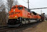BNSF 8582 leads K042 down track 2.